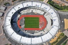 An aerial photograph of the Olympic Stadium in Stratford, East London Stratford East, 2012 Summer Olympics, London Places, East London, Aerial Photography, Olympic Games, Badges, New York City, Madrid