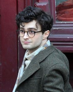 8dc8ec8158 Daniel Radcliffe s grown-up version of the round Harry Potter glasses   rounded ombre frames