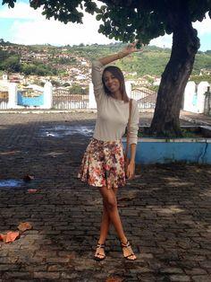 A linda Déa Lima, postou agorinha no blog Moda Para Você um look lindo de Via Scarpa <3 <3 <3