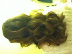 Big messy curls