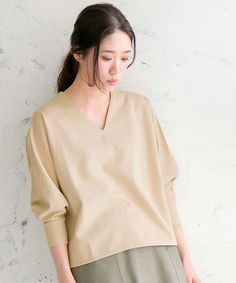 ビッグシルエットVネックプルオーバー(Tシャツ/カットソー)|le.coeur blanc(ルクールブラン)のファッション通販 - ZOZOTOWN