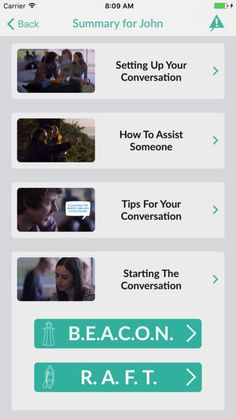 chats for life The Chats for life app will help you to plan a conversation with someone that you may be concerned about, who may be struggling...