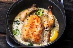 Κοτόπουλο φούρνου με ρύζι και μανιτάρια