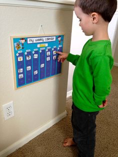 Weekly Kids Calendar Schedule Activity & Chore Chart  | Etsy