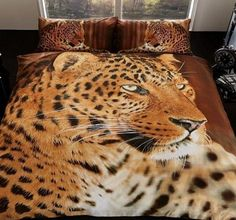 This stunning Leopard Animal Quilt Cover will add a unique and stylish touch to any bedroom. Animal Print Bedding, Animal Quilts, Duvet Cover Sizes, Quilt Cover Sets, Queen Sheets, Bed Sheets, Duvet Bedding, Leopard Animal, Queen Quilt
