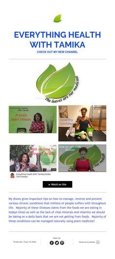 Everything Health with Tamika  CHECK OUT MY NEW CHANNEL