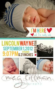 20+ of the Best Baby Birth Announcements - Brittany Estes