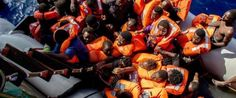 Bodies of 25 refugees found at bottom of boat in 'horrific' disaster in Mediterranean Sea Refugee Boat, Un Refugee, Refugee Crisis, Refugee Stories, Migration Crisis, Show Of Hands, Dinghy, Germany, Italia