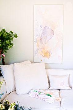 white // watercolor // natural light // fresh flowers