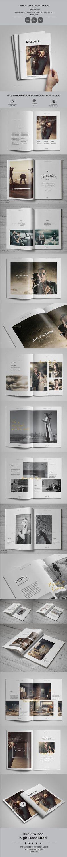 Portfolio / Magazine Template InDesign INDD. Download here: http://graphicriver.net/item/magazine-portfolio-/16700429?ref=ksioks