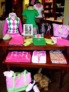 Collier's Reserve Golf Shop Redesign- Lilly Pulitzer display as if it is not obvious
