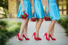 This was the turquoise and red wedding I did I was telling you about.