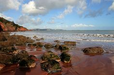 Broadsands Beach in winter looking towards Torquay - Torbay
