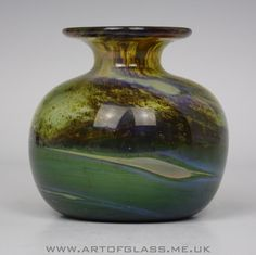 Isle of Wight Studio Glass Aurene globe vase, designed by Michael Harris