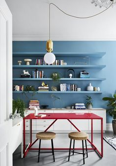 The Design Files - Does It Spark Joy? Inspired Storage Ideas From Five Great Australian Designers - photo, Tess Kelly. Interior Design Studio, Home Interior, Interior Decorating, Interior Ideas, Interior Inspiration, Home Office, Sala Grande, Australian Interior Design, Interior Color Schemes