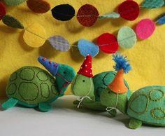 Party-Schildkröten | 10 extrem niedliche Stofftiere, die Du selbst machen kannst