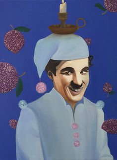 Charlie Chaplin- Who Series by Jessica Lepore  Oil painting, 2015