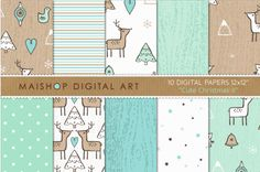 Digital #Paper - Cute #Christmas II - http://luvly.co/items/5026/Digital-Paper-Cute-Christmas-II