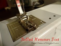 tutorial : sew a rolled hem