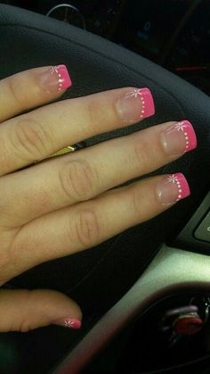 Color french Nails design spring bright colors french tips 52 Ideas Nails design spring bright colors french tips 52 Ideas French Gel, French Acrylic Nails, French Tip Nails, French Manicures, French Pedicure, French Style, Pedicure Designs, Toe Nail Designs, Nails Design