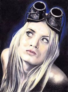 "Saatchi Art Artist Giovano Lumoindong; Drawing, ""Girl Aviator"" #art"