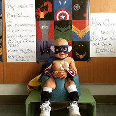This 18-month-old beat brain cancer against all odds - all while wearing his favorite superhero outfits! We're convinced he is a real superhero with real superpowers! #cancersurvivor #cancerinspiration