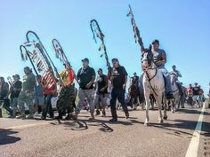 Native American protesters halted pipeline construction in Cannon Ball, N.D. :: fuck yes!!!