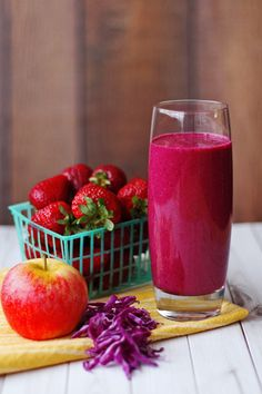 Purple Smoothie is a great way to start the day and get some vitamin K and C.