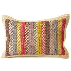 A Colorful Textural Pillow To Warm Up The Room And Nestle Into While Reading
