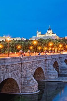 The Segovia Bridge. Views to The Royal Palace and The Almudena Cathedral - Madrid - Spain Monuments, Foto Madrid, Barcelona, Spain And Portugal, Spain Travel, Adventure Awaits, Places Around The World, Places To See, Beautiful Places
