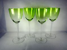 Collectible Glasses, Cups & Mugs Green Bowl, Crystal Glassware, Lime, Mugs, Crystals, Elegant, Tableware, Water, Vintage
