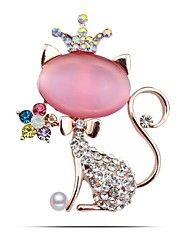 colorato strass gatto spilla pin belle gioielli migliori spille da sposa coreano gioielli excelente broches Natale