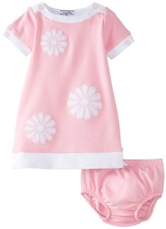 Hartstrings Baby-girls Infant Short Sleeve Knit Ponte Dress With Floral Applique $42.99 (10% OFF)