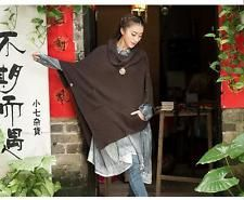 MOVING SALE! 30% OFF! NEW OS Cotton Knit Poncho Cowl Neck Front Pockets  | eBay