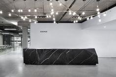 A custom reception desk : Lenore Design