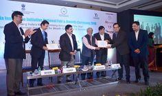 MIET Team Receiving India Innovtion Award from Chairman AICTE Prof. Sahasrabudhe at Delhi.