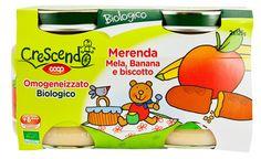 Omogeneizzato biologico merenda Mela, Banana e Biscotto 2x125g