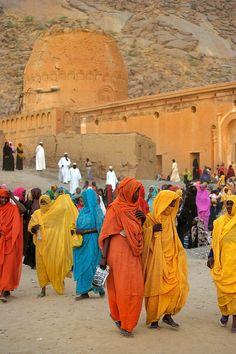 Haddendowa tribe women in Kassala Mosque, Sudan   by christophe_cerisier