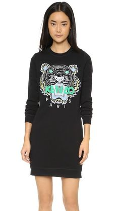 KENZO KENZO Tiger Sweater Dress Tenues, Automne Hiver, Objectifs Outfit, Pull  Kenzo, c180da506a7
