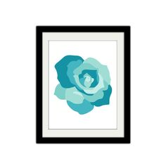 Blue Rose Poster. Simple Modern Minimalist. by SamsSimpleDecor, $15.00