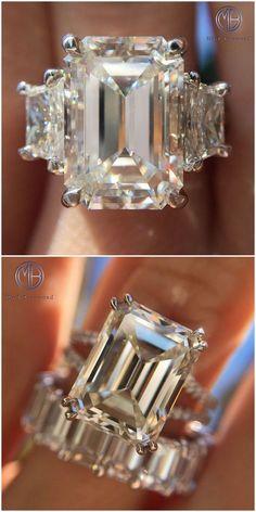 Gorgeous Emerald Cut Rings Follow @markbroumand