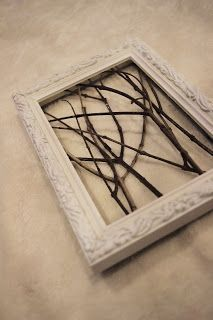 framed tree branch wall art on Pinterest | Creative Crafts ...