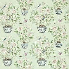 Zoffany - Luxury Fabric and Wallpaper Design   Products   British/UK Fabric and Wallpapers   Romey`s Garden (ZWOO321443)   Woodville Fabrics...