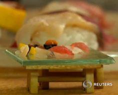 Les plus petits Sushi du monde sur un seul grain de riz !