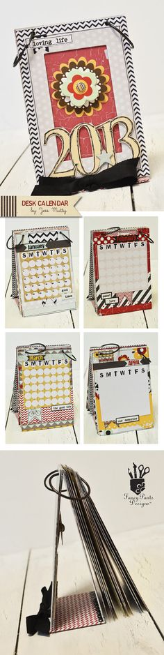 Desk Calendar by Jess Mutty for Fancy Pants Designs