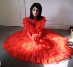 Lydia Deetz Red Wedding Dress BeetleJuice Sz 6 Med by DarkDetails ...