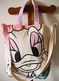 New Tokyo Disney Canvas Tote Handle Bag Daisy Duck An Limited