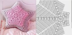 Knitting Designs, Crochet Designs, Crochet Patterns, Crochet Cushion Cover, Crochet Cushions, Crochet Home, Crochet Baby, Knit Crochet, How To Start Knitting