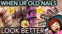Fall nail art I don't even like cause I like my old stuff better