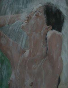 Marie Carmen Créations: Jeune femme sous la douche